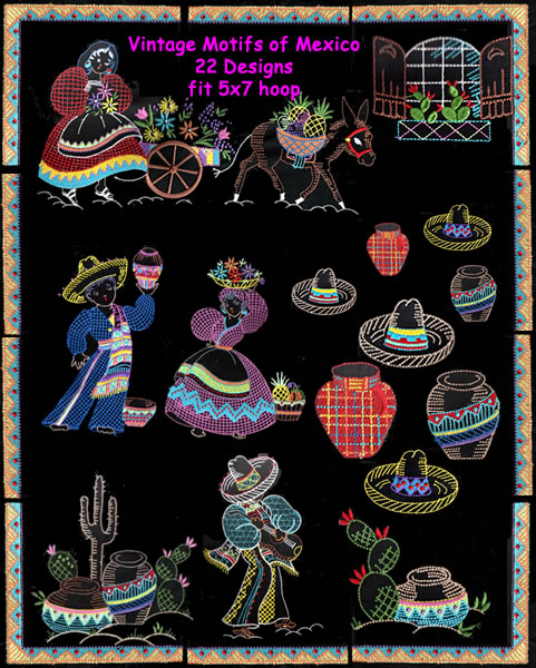 Vintage Motifs of Mexico